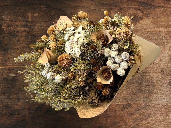 Bouquet de Flores Variadas Secas Nude Tam G