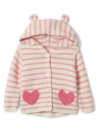 Sweater com Capuz GAP Coração