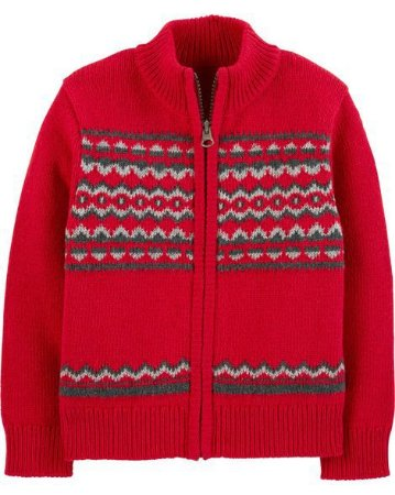 Cardigan carters  - Fleece Pullover Fair Isle