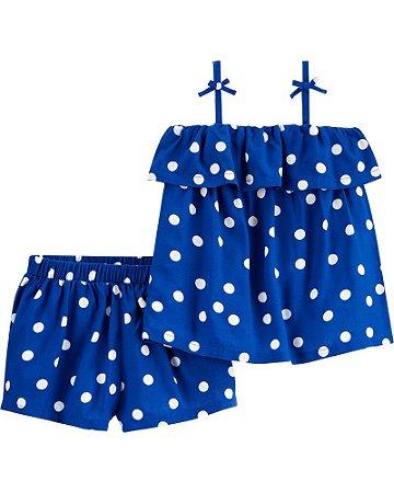 Conjunto Verão Carter's 2 Peças -  Polka Dot Outfit Set