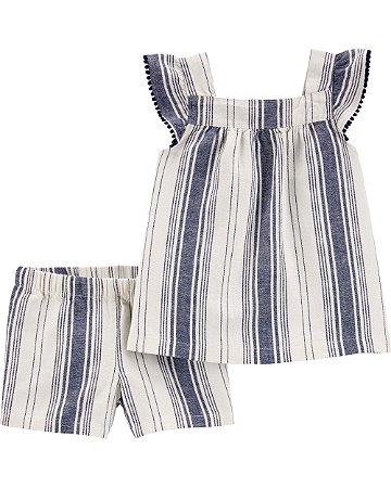 Conjunto Verão Carter's 2 Peças -  Striped Linen