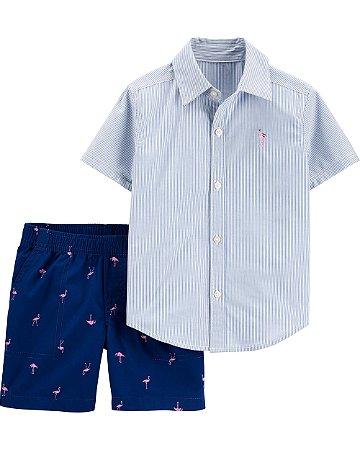 Conjunto Verão Carter's 2 Peças - Flamingo