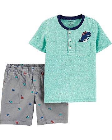 Conjunto 2 peças camiseta e shorts - t-rex