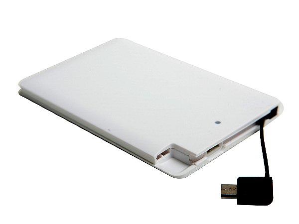 PowerBank Slim com cabo Embutido 2000 mAh