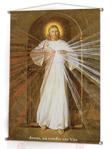 BANNER JESUS MISERICORDIOSO - PINTURA DE ROBERT SKEMP