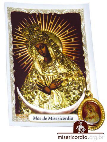 KIT SANTINHO COM MEDALHA - MÃE DE MISERICÓRDIA