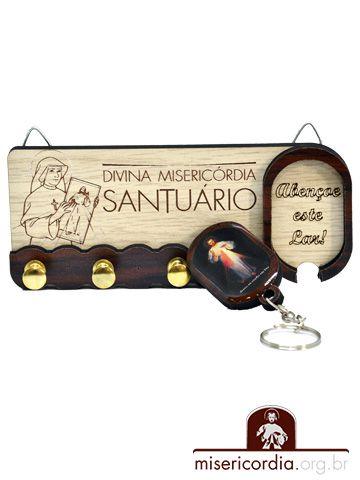 PORTA CHAVE SANTUÁRIO E SANTA FAUSTINA