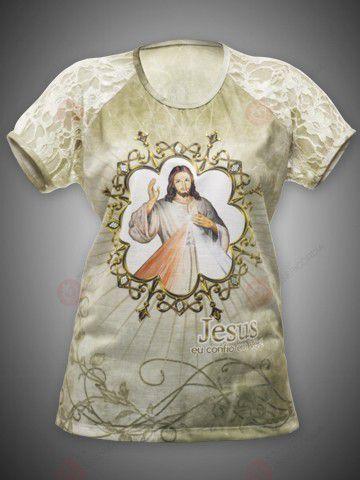 CAMISETA FEMININA JESUS MISERICORDIOSO