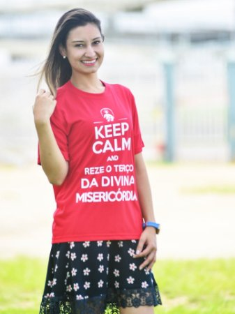 CAMISETA KEEP CALM - VERMELHA