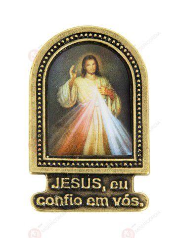 KIT 3 IMAS METAL COM IMAGEM DE JESUS