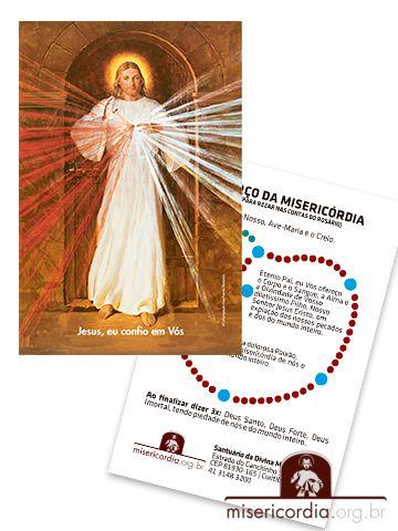 SANTINHO DE JESUS MISERICORDIOSO COM TERÇO NO VERSO - SKEMP