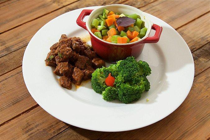 MENU 32 - Picadinho de carne e mix de legumes - 250g