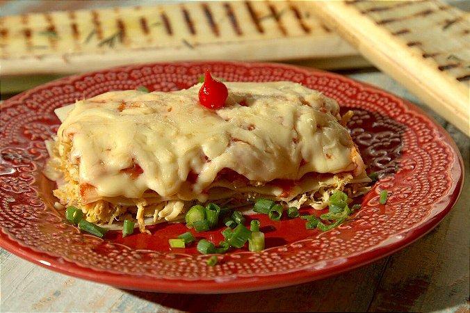 Lasanha de palmito pupunha com frango e queijo light - 350g