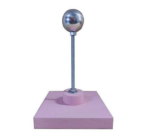 Apoio de Montagem cor Rosa Esfera de 3,5cm