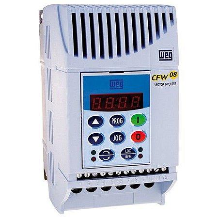Inversor 0,5CV Monofásico 220Vca 2,6A  WEG CFW080026S2024PSZ