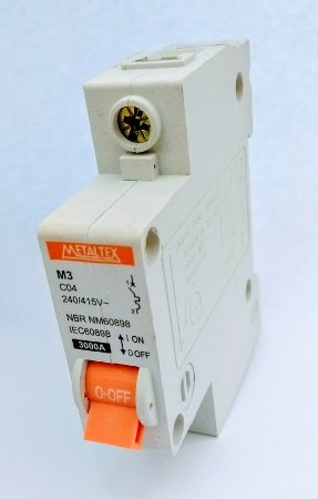 Disjuntor 50A Monopolar Curva C METALTEX