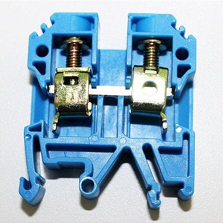 CONECTOR DE PASSAGEM 10MM P/ TRILHOS TS32 E TS35 - AZUL MTB10EN-AZ
