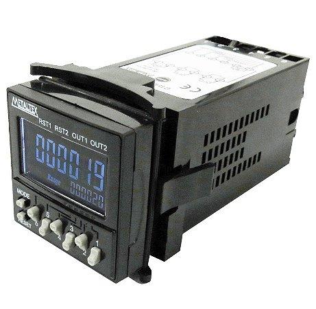 CONTADOR/TEMPORIZADOR/TACÔMETRO 6 DIGITOS 100-240VCA - 48X48MM CTHD6-AC