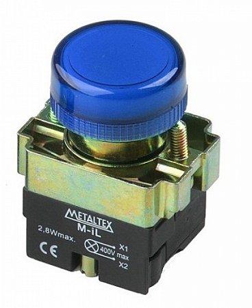 SINALEIRO LED 22MM - 220V - AZUL M20PR-BL