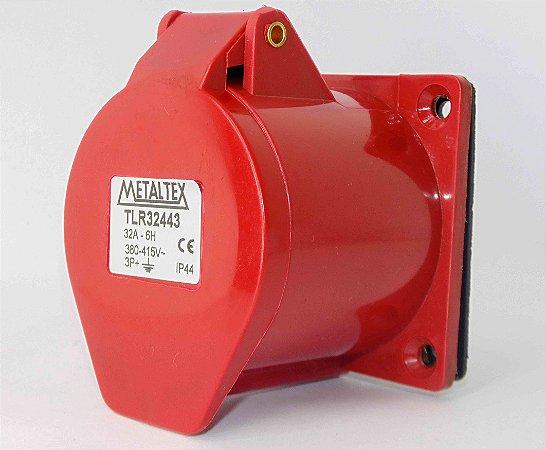 TOMADA PAINEL 32A 3P+E-6H VERMELHO TLR32443