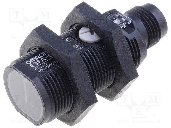 sensor fotoelétrico/ DS:100mm/ difuso/ NPN/ conector M12  E3FA-DN21
