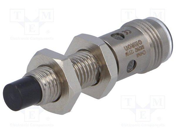 sensor indutivo / M8/ NA/ PNP/ DS: 4mm/ não faceado/ conector M12  E2A-S08KN04-M1-B1