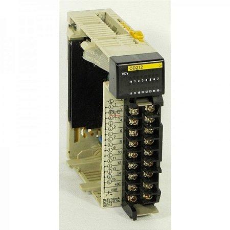 expansão clp omron 16S, saida a transistor PNP, 0,5A, 24Vcc, conexão terminal block, corrente de consumo 0,10A a 5Vcc, C  CJ1W-OD212