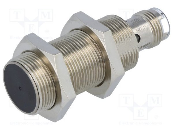 sensor indutivo/M18/NA/PNP/DS:8mm/faceado/conector M12  E2A-M18KS08-M1-B1