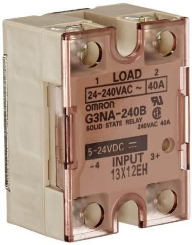 rele estado sólido/ 40A/ carga 24 a 240VAC/ entrada 5 a 24VDC/ varístor/ LED  G3NA-240B-DC5-24