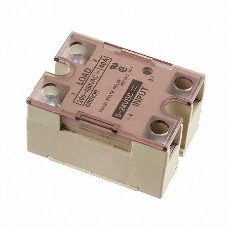 rele estado sólido omron, led de indicação, isolação phototriac,  corrente de carga 40A,  200 a 480VCA  G3NA-440B-2 DC5-24