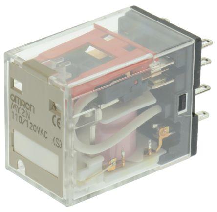 rele/ 8 pinos/ 10A/ 2NAF/ 110-120VAC/ LED  MY2N AC110/120 (S)