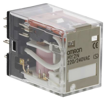 rele/ 8 pinos/ 10A/ 2NAF/ 220-240VAC/ LED  MY2N AC220/240 (S)