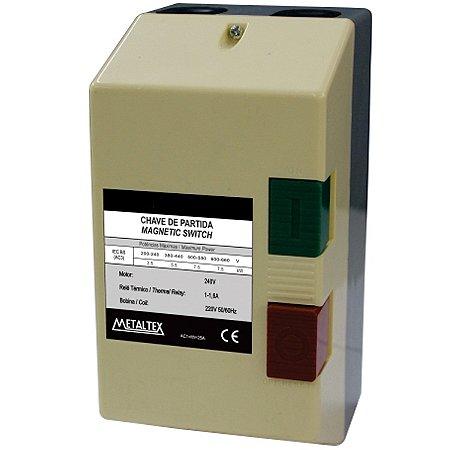 CAIXA DE PARTIDA 1,8KW - 6 A 9A - 220V  CP12-H5-9A