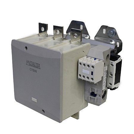CONTATOR TRIPOLAR 500A/AC3 BOB: 220VCA - AUX:2NA+2NF  CT500-H5-322