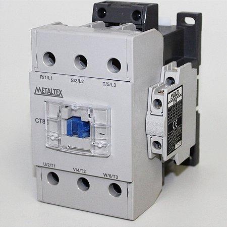 CONTATOR TRIPOLAR 85A/AC3 - BOB: 220VCA - AUX: 2NA+2NF  CT85-H5-322