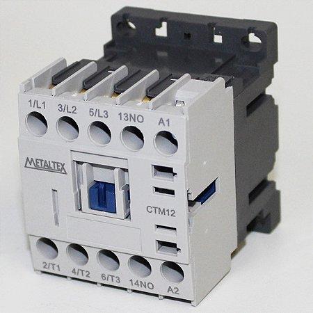 MINI CONTATOR 12A/AC3 - BOB: 220VCA - AUX: 1NA  CTM12-H5-310