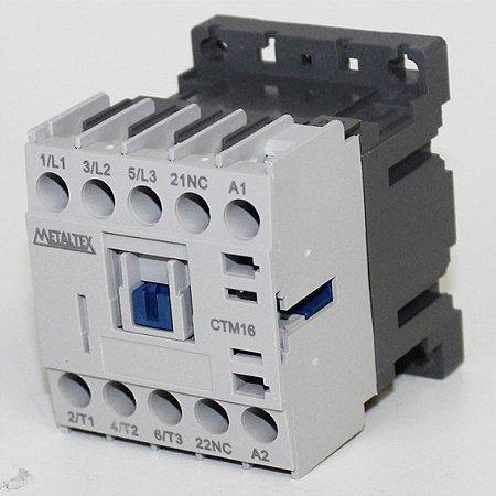 MINI CONTATOR 15A/AC3 - BOB: 24VCA - AUX: 1NF  CTM16-B5-301