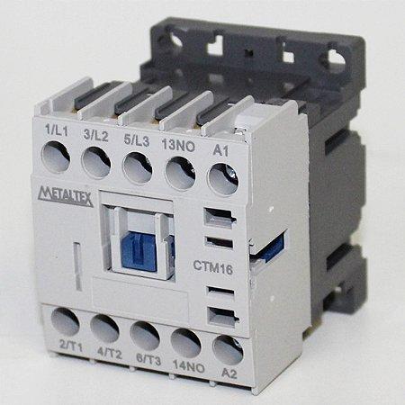MINI CONTATOR 15A/AC3 - BOB: 220VCA - AUX: 1NA  CTM16-H5-310