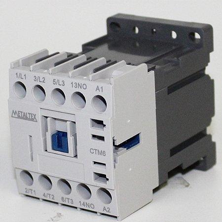 MINI CONTATOR 7A/AC3 - BOB: 24VCC - AUX: 1NA  CTM6-B0-310