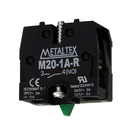 CONTATO 1NA P/BOTÃO M20/P20 INVERTIDO - USO CAIXA CP  M20-1A-R