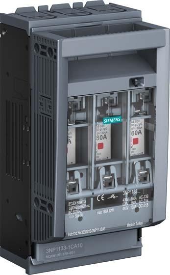seccionadora fusivel NH 160A 3NP1 3NP1133-1CA10