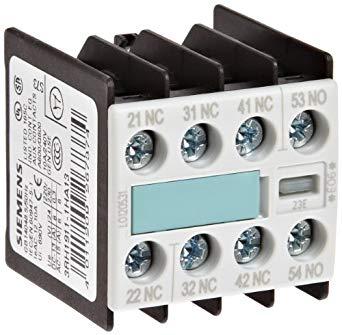 bloco de contato auxiliar, frontal, 1NF, entrada por cima, para contator S00 3RH19111HA13