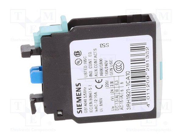 bloco de contato auxiliar, frontal, 1NA, para contator S0 - S12 3RH19211CA10