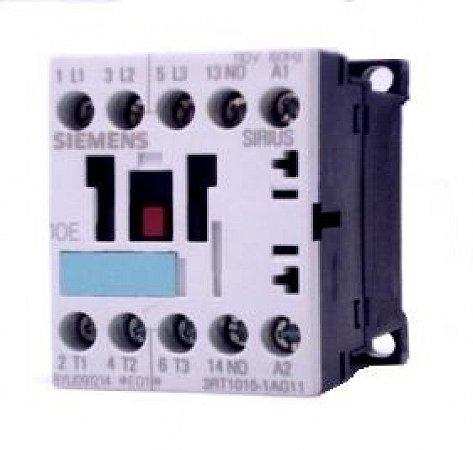 contator forca tri  7A, 110Vca, 1NA, 60HZ 3RT1015-1AG11