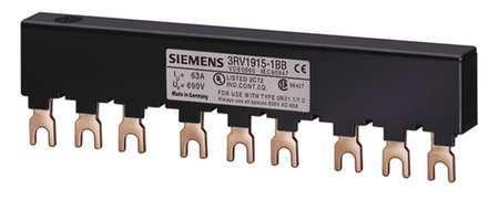 barra de interligação 3RV1915-1BB, para 3 disjuntores S00, S0,  espaçamento 45mm