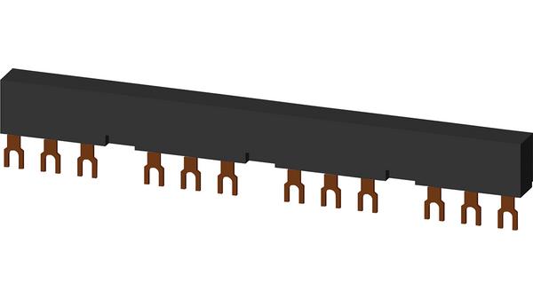 barra de interligação 3RV1915-2CB, para 4 disjuntores S00, S0,  espaçamento 55mm