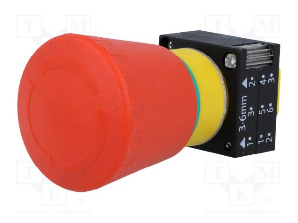 frontal botão emergencia girar p/ destravar 3SB3000-1HA20 VM 3SB30001HA20