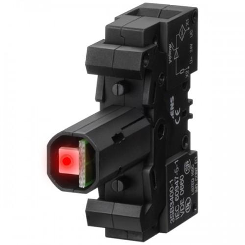 elemento soquete com led incorporado  220V VM 3SB3400-1RB