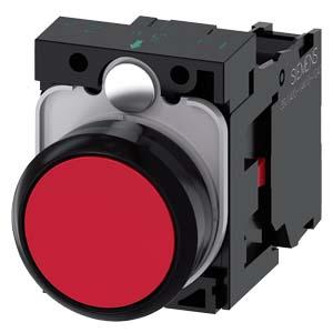 botão de comando impulso 1NF vermelho 3SB6130-0AB20-1CA0