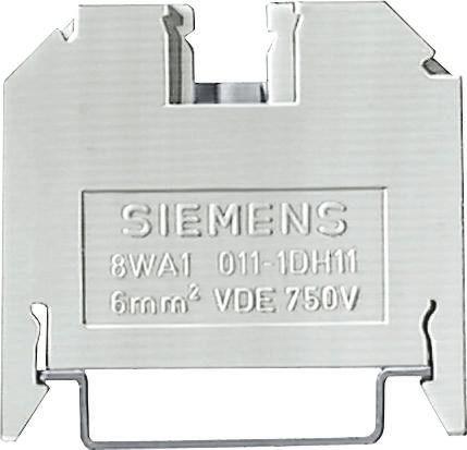 conector de passagem, 6mm, bege, parafuso 8WA1011-1DH11